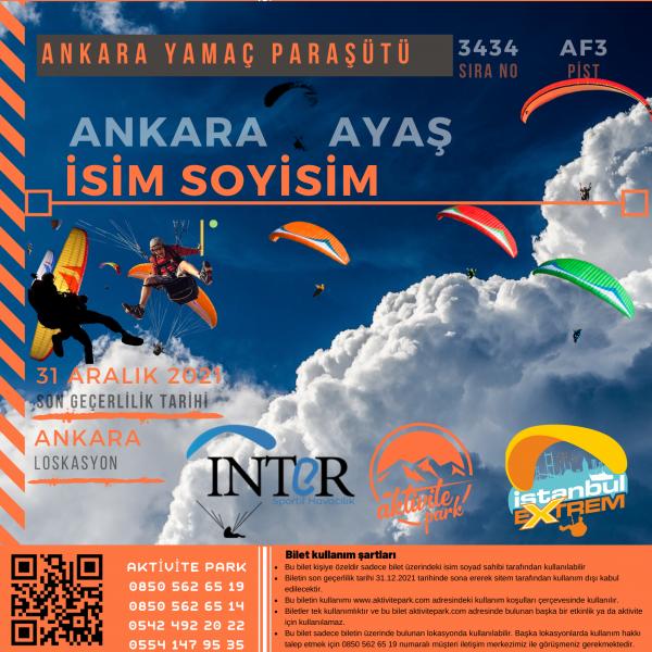 Ankara Yamaç Paraşütü Hizmeti 2021
