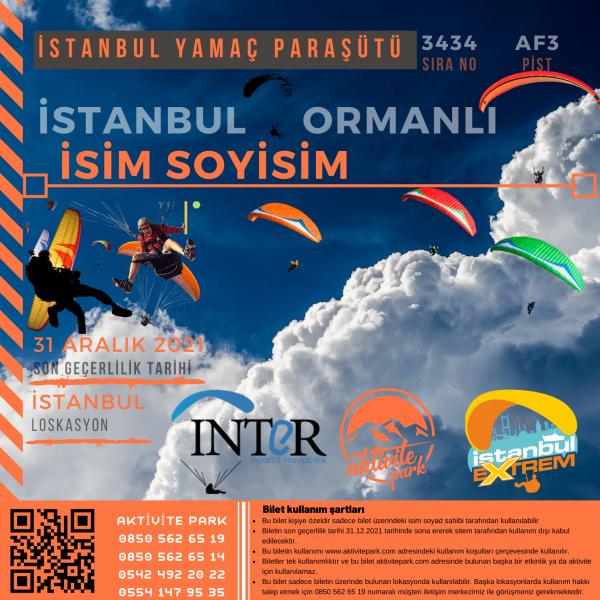 İstanbul Yamaç Paraşütü Hizmeti 2021