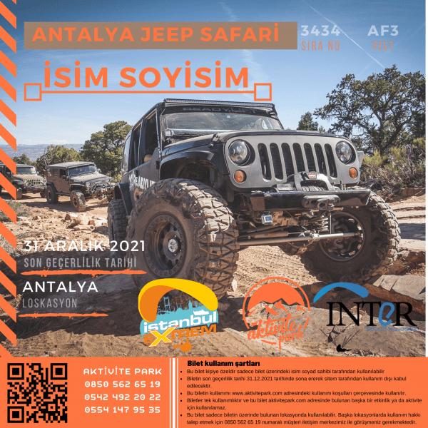 Antalya Jeep Safari Hizmeti