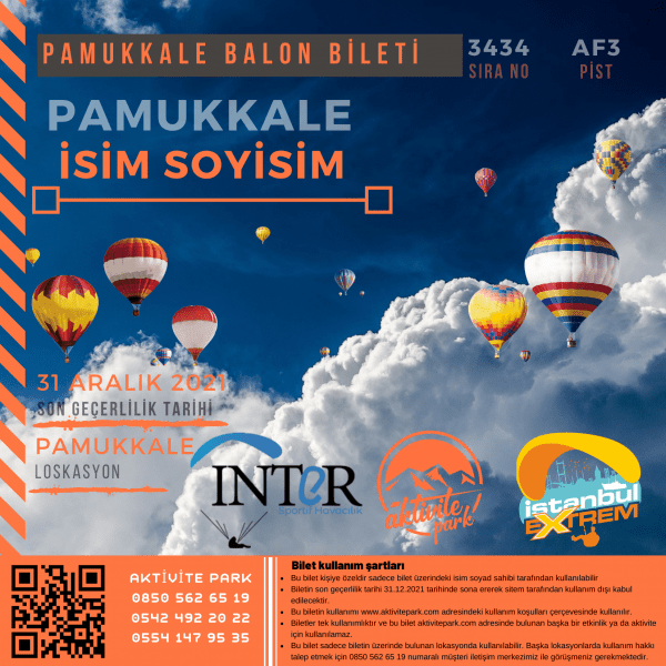Pamukkale Sıcak Hava Balonu 1